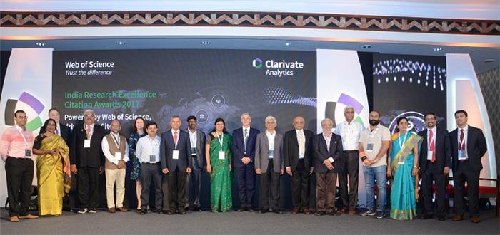 Clarivate Analytics has Announced the India Research Excellence - Citation Awards 2017