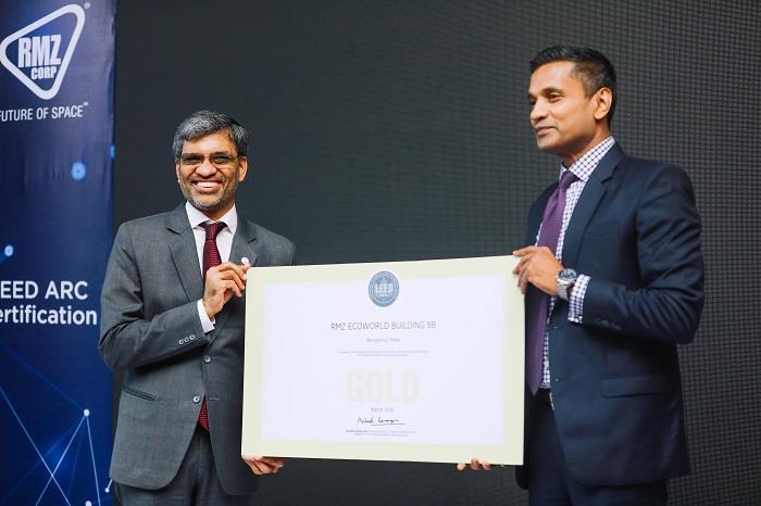 Rmz Corp Largest Leed Certified Portfolio Under Arc Platform In India
